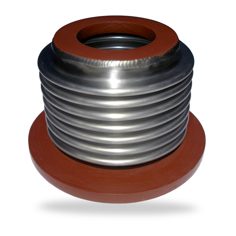 Penetration seal  metal expansion joints
